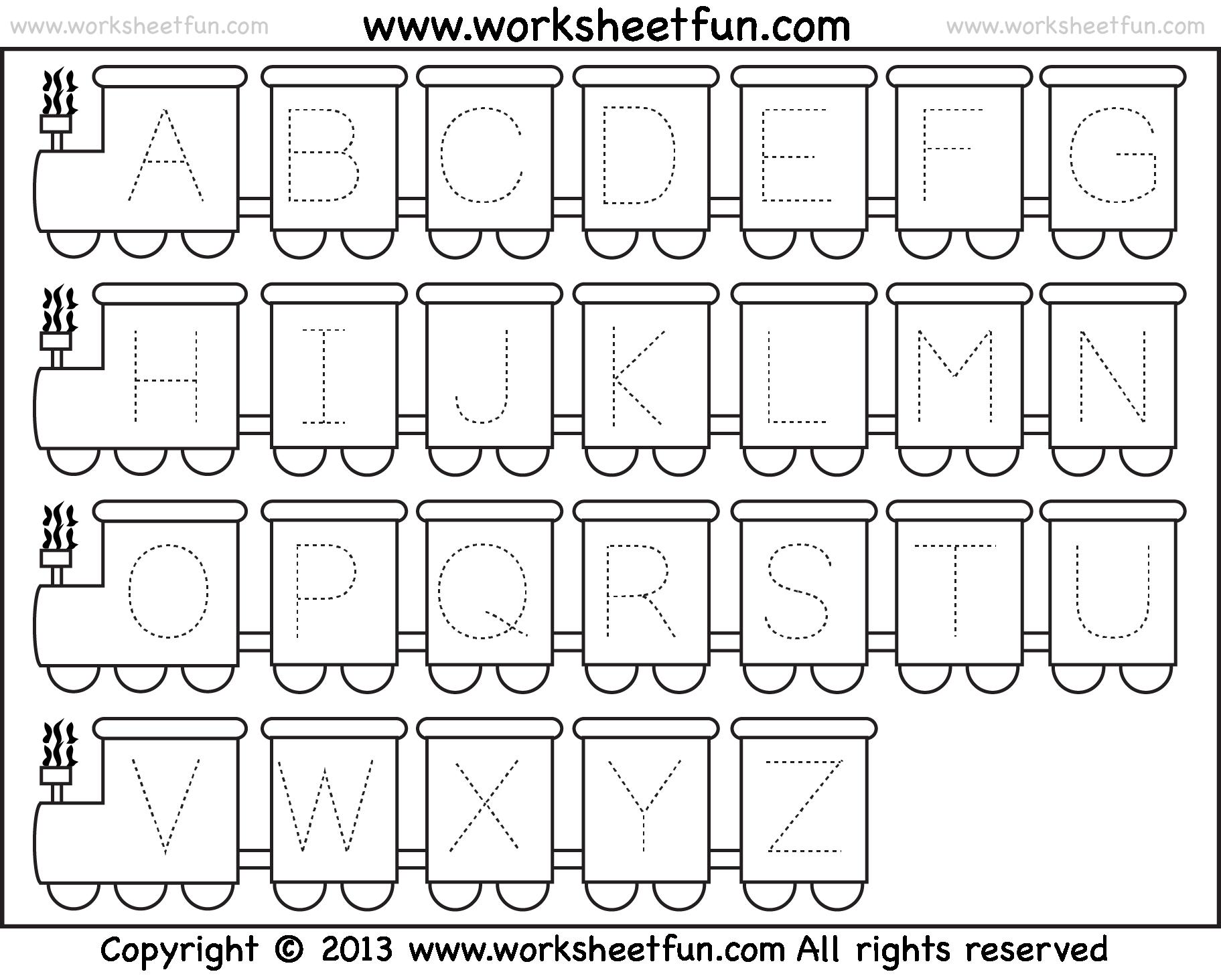 Maze clipart handwriting. Alphabet train worksheet the