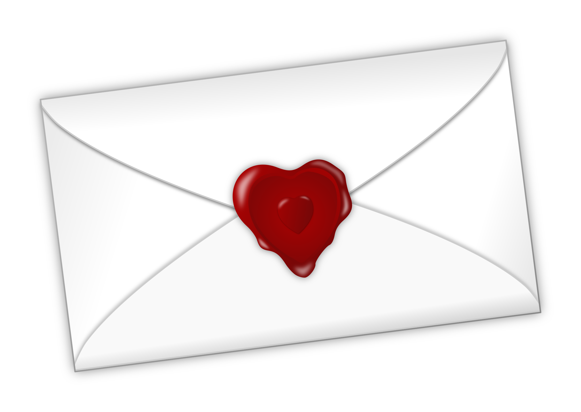 Valentines day love letter. Valentine clipart mail