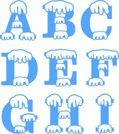 Winter clipart letter.  best sticker images