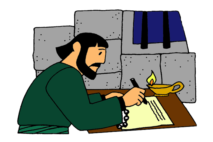 Writer clipart letter writing. Paul writes letters from