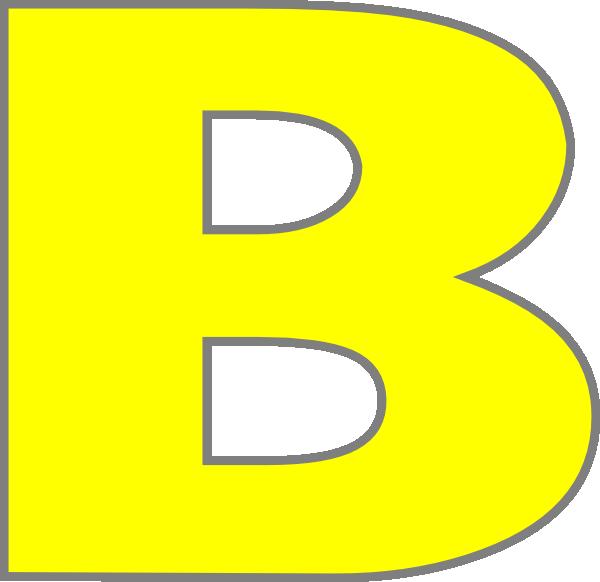 B clipart yellow. Clip art at clker