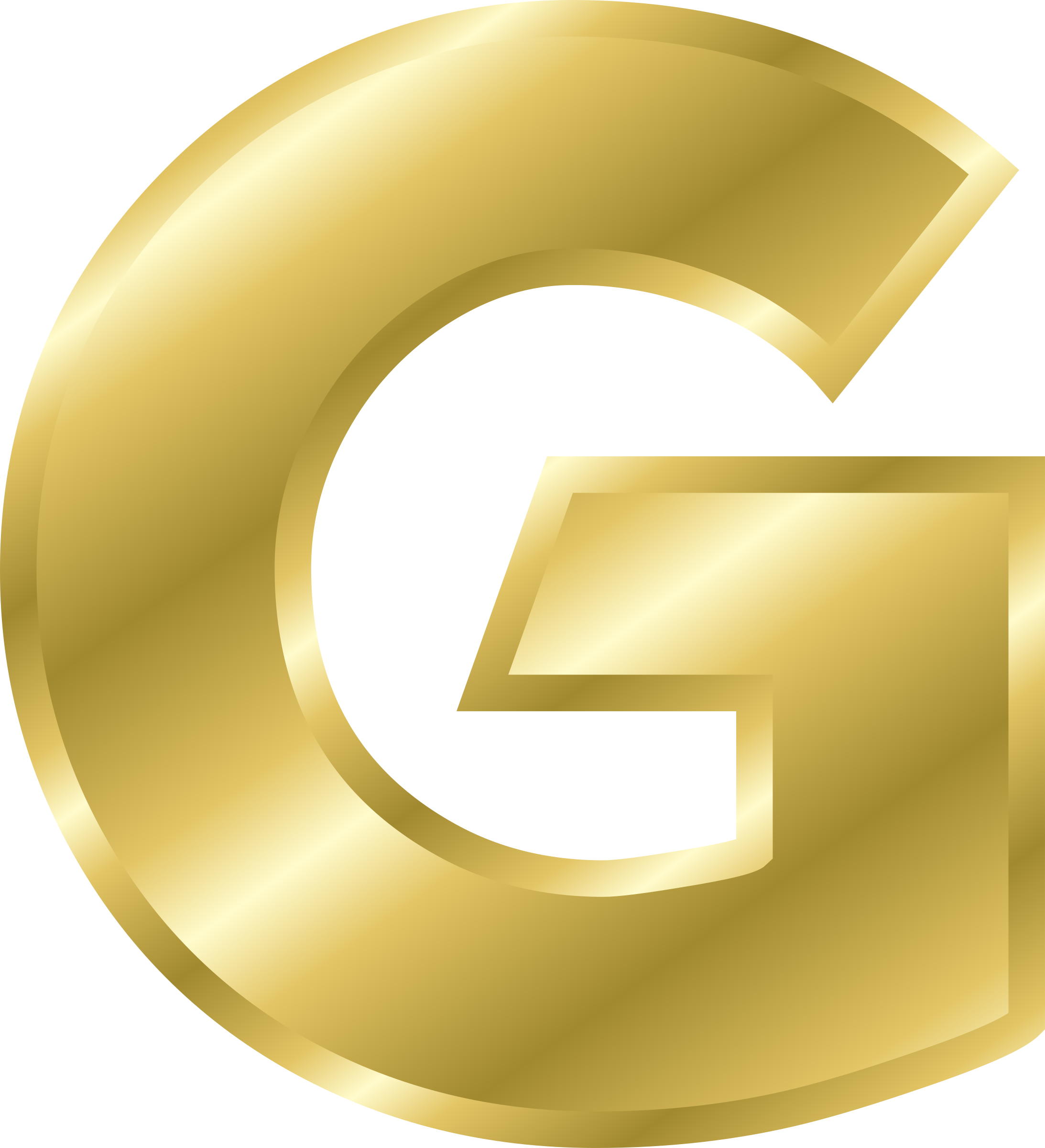 E clipart gold. Effect letters alphabet big