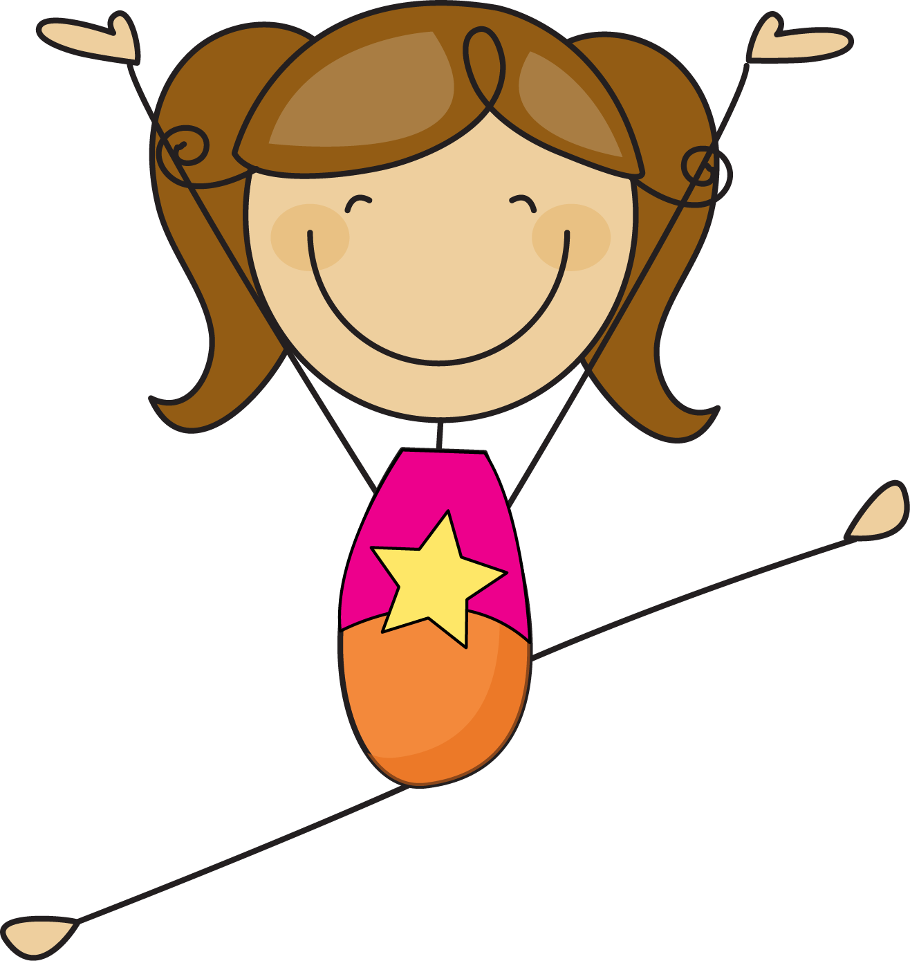 Student clipart stick figure. Girl cartoon free download