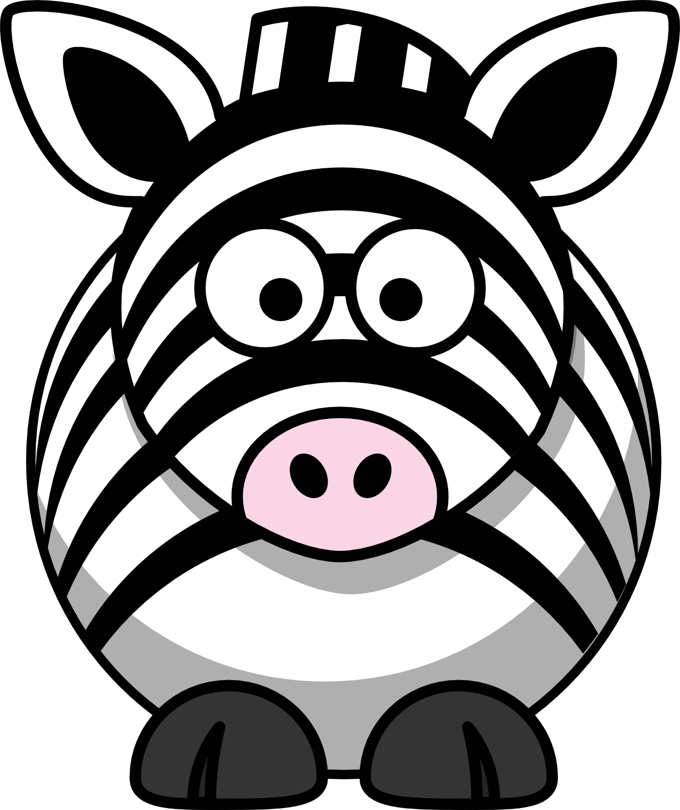 Clipart zebra front. Cartoon scalable vector graphics