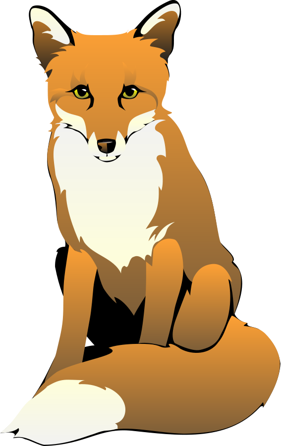 Black and white art. Clipart fox transparent background