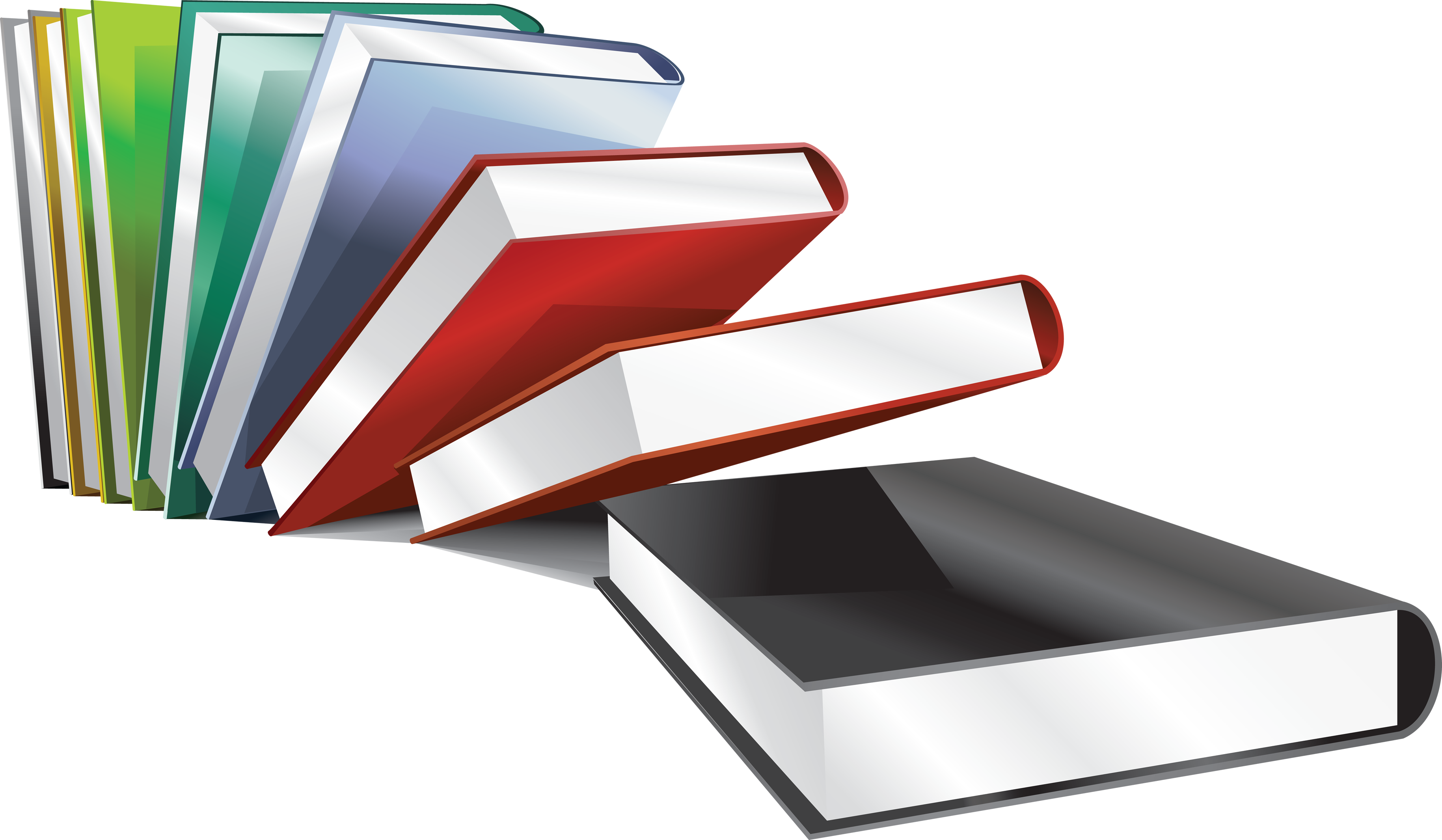 Book vector png.  collection of books