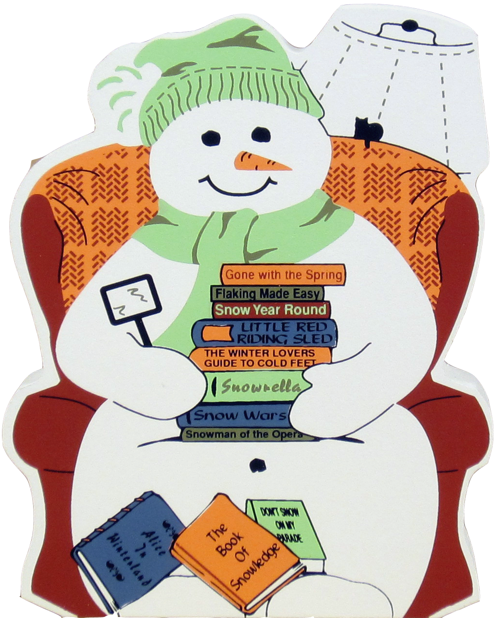collection of snowman. Clipart reading winter