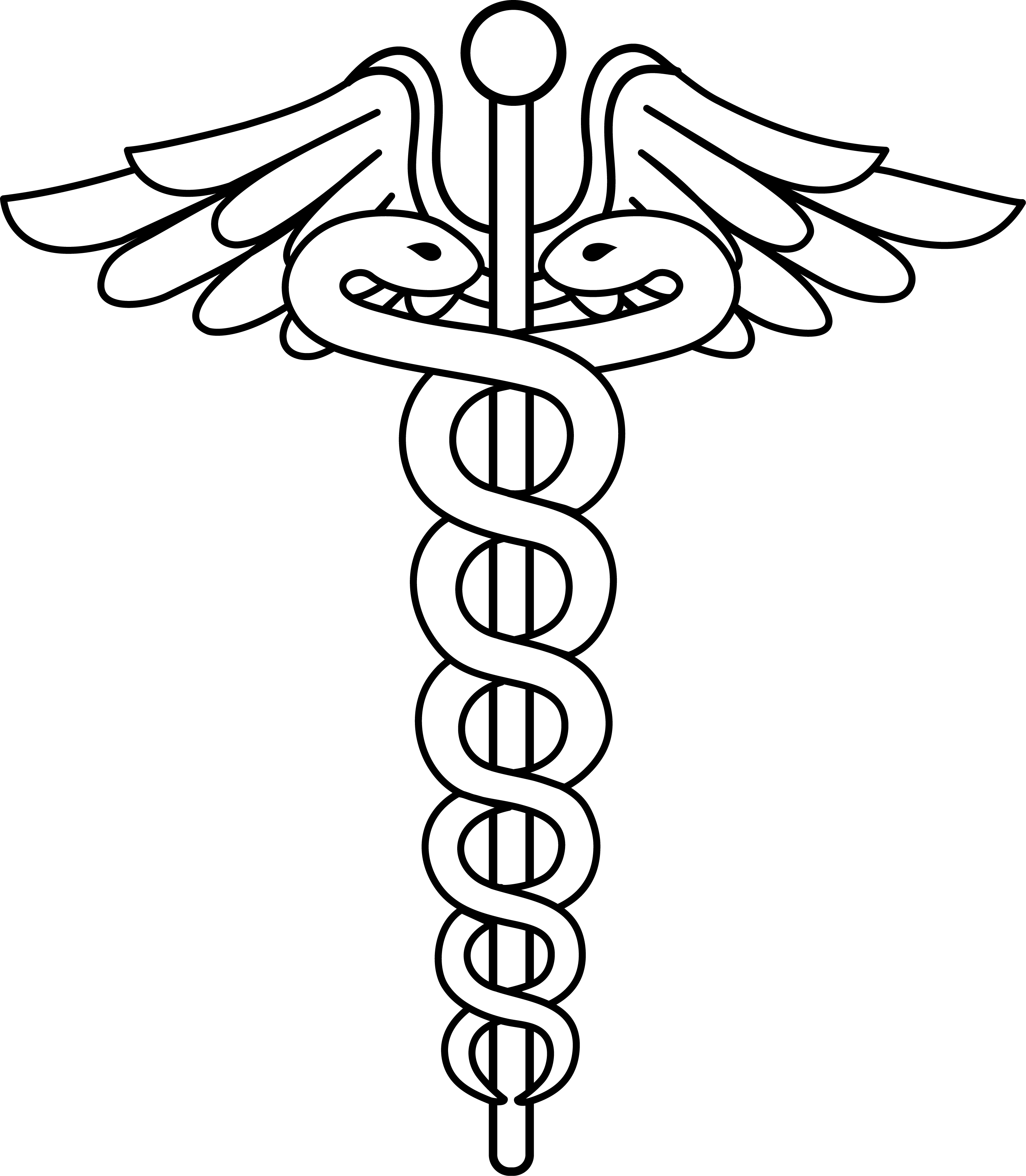 Free dental caduceus download. Health clipart black and white