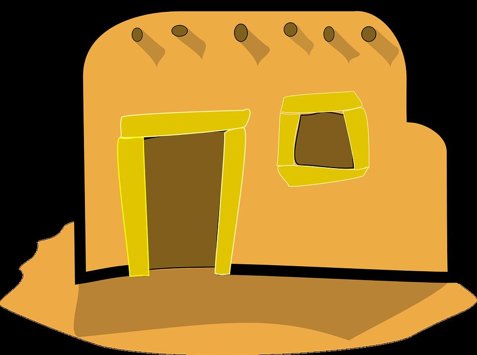 Desert clipart desert house.  collection of adobe