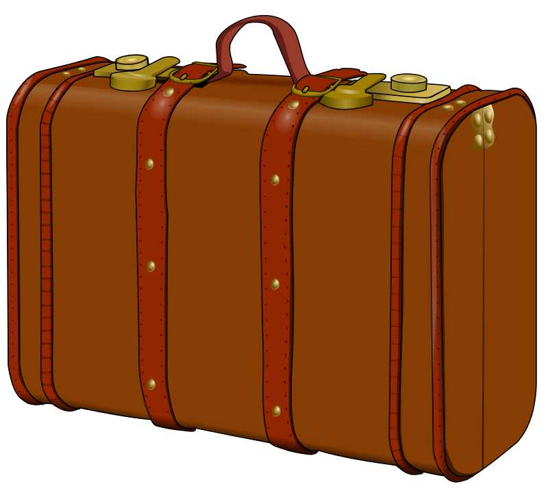 Luggage clipart travel bag. Suitcase clip art library