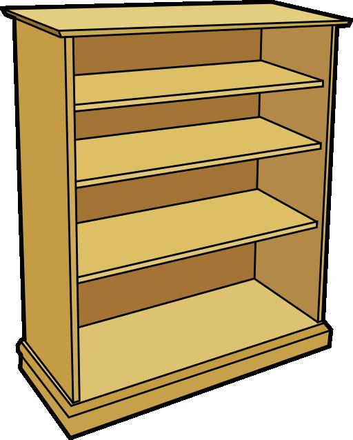 Wooden bookcase i royalty. Vegetables clipart shelf