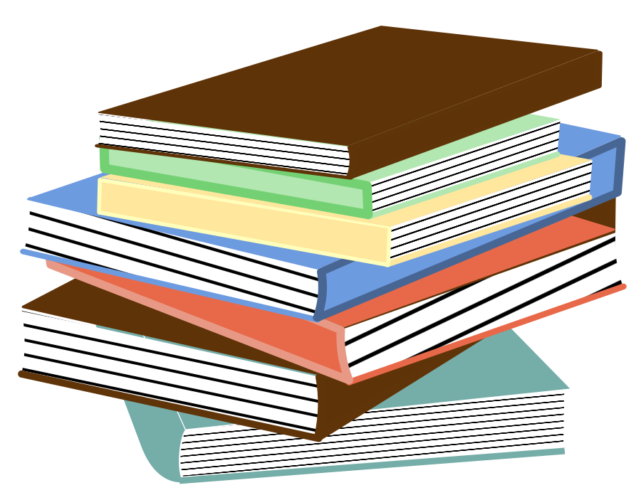 Free image of book. Folder clipart row