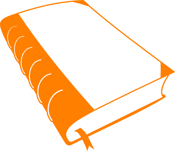 Free book cliparts orange. Dictionary clipart thick