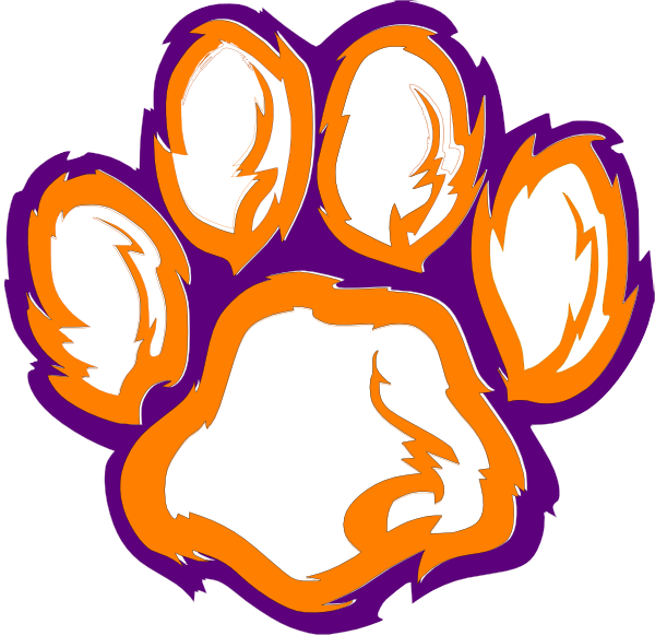 Free clemson tiger paw. Paws clipart artistic