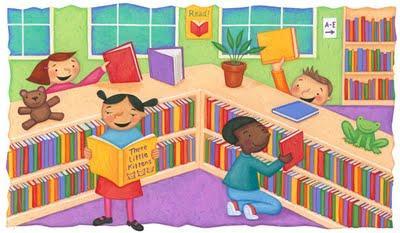 . Clipart library media center