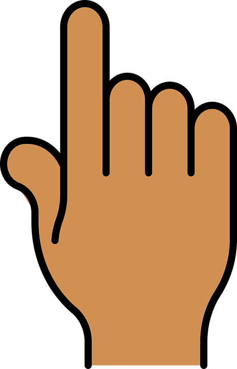 Handprint clipart high five. Cartoon middle finger pictures