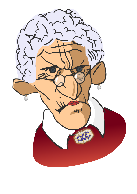 Lady clipart thinking. Free ugly woman cliparts
