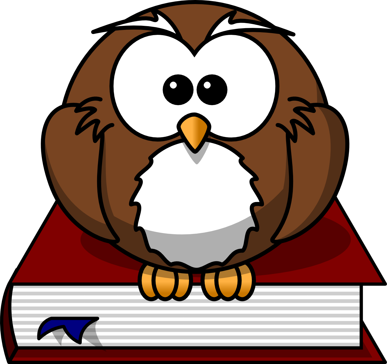 Clipart library owl. Free cartoon png download