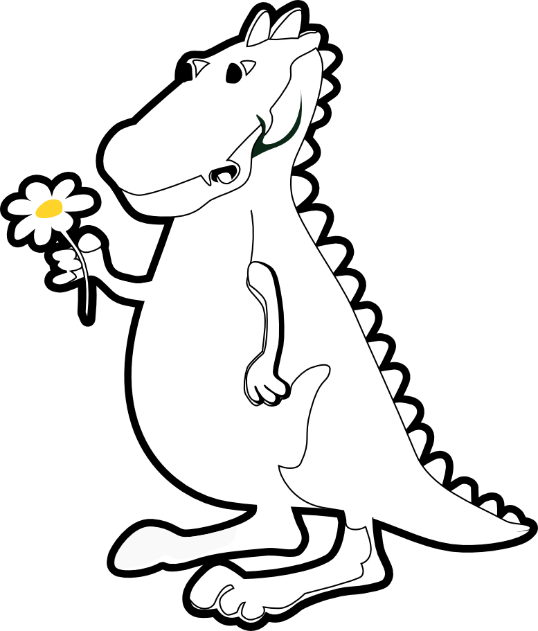 Free dragon black and. Clipart library reference book