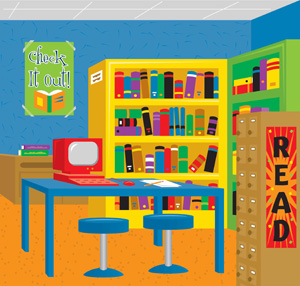 Facilities clip art library. Librarian clipart school facility