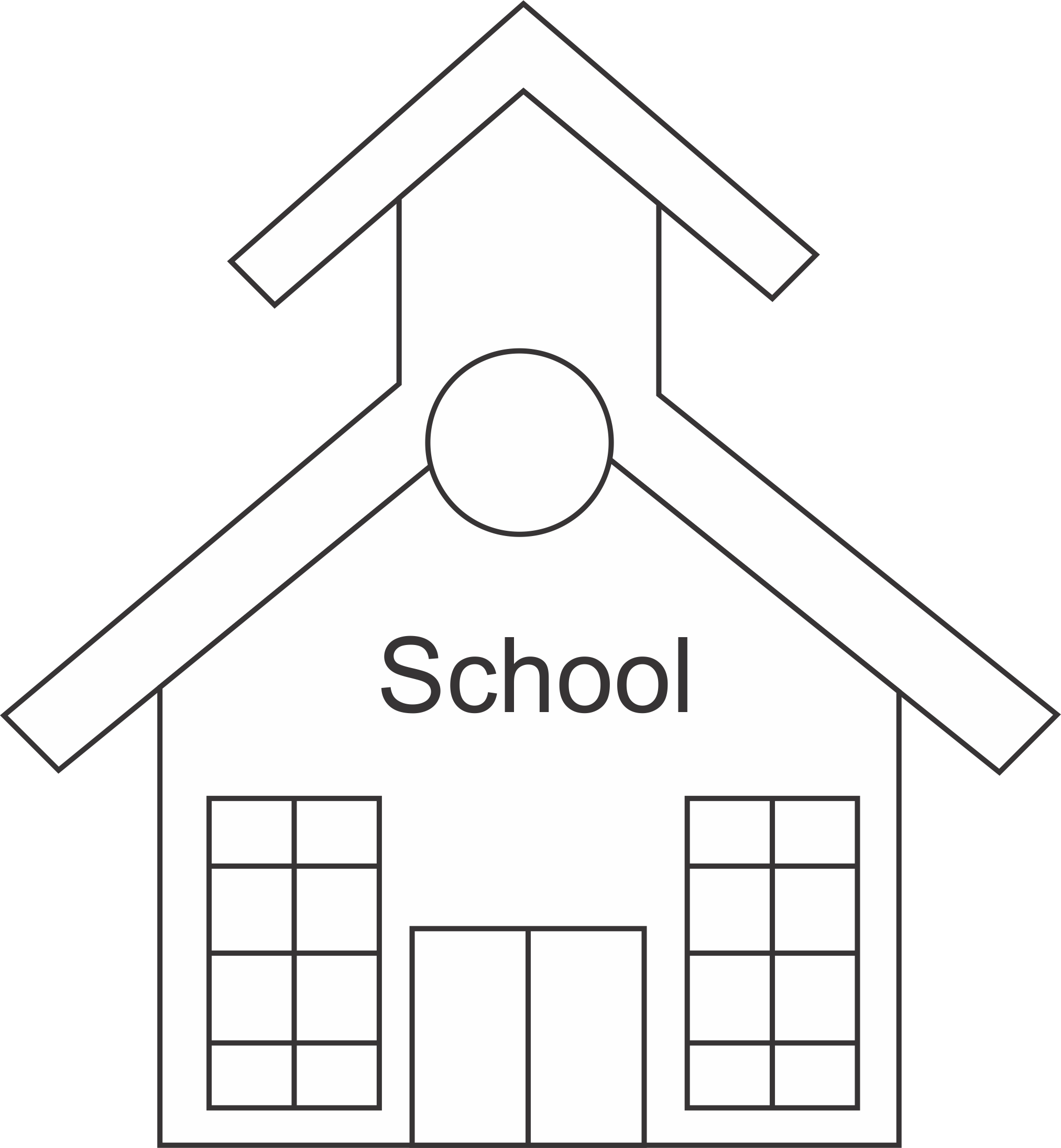 Schoolhouse clipart remedial education. Free school cliparts outline
