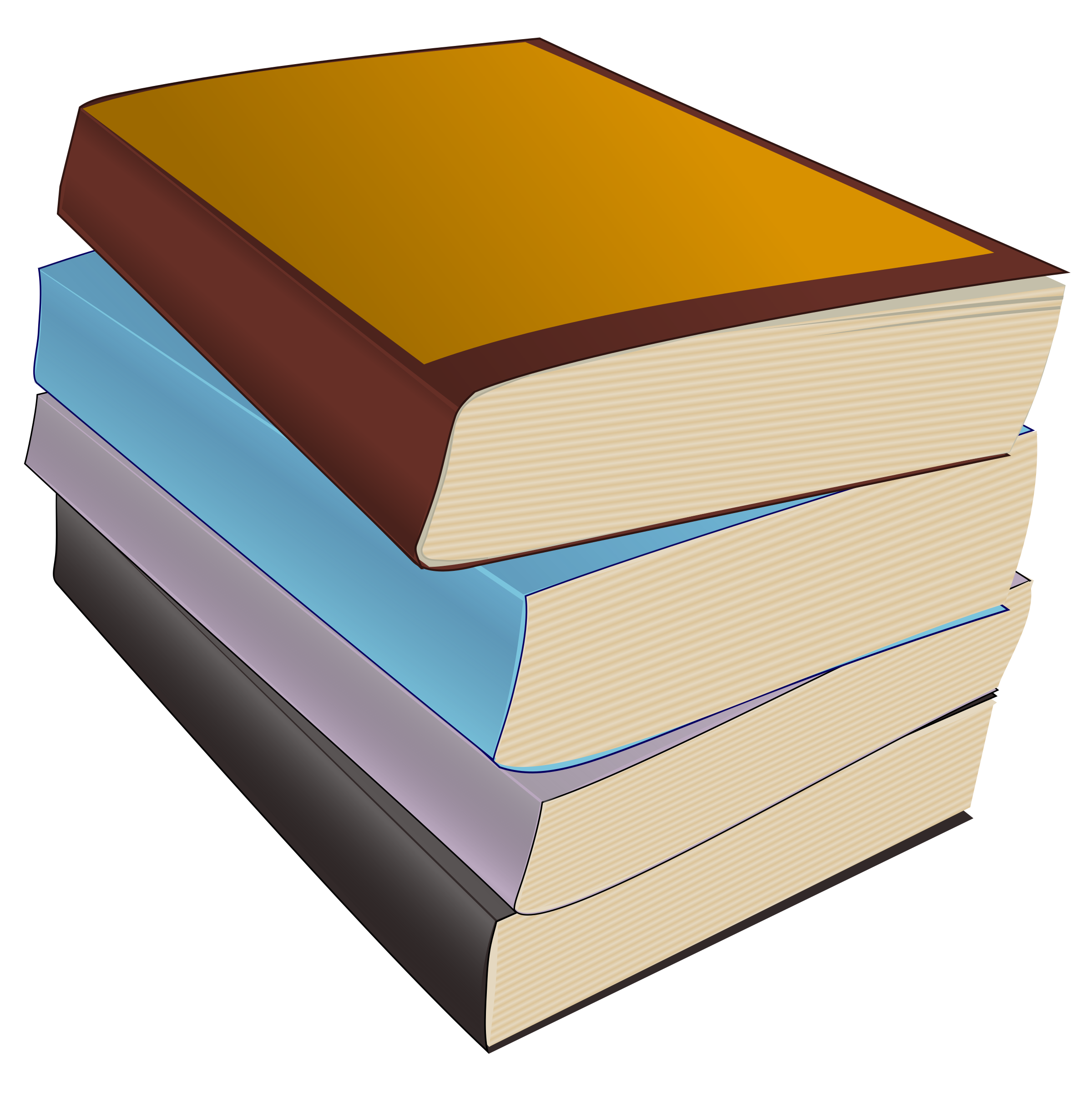 Of paperbacks big image. Library clipart stack book