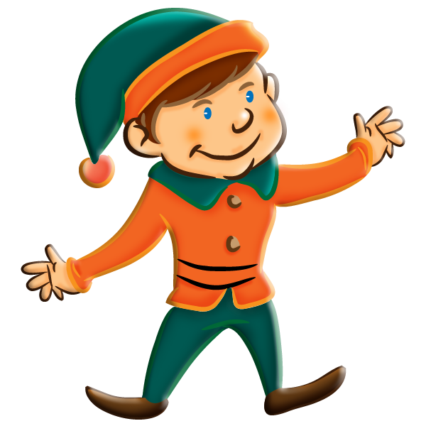 Mittens clipart orange. Elf transparent background free