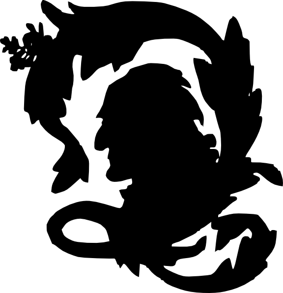 Letter q silhouette clip. Clipart man head
