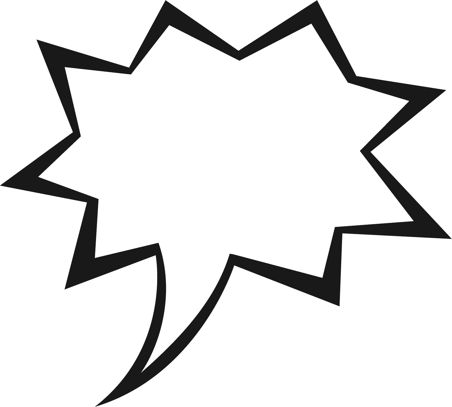 Yelling clipart shouted. Free comic word bubbles