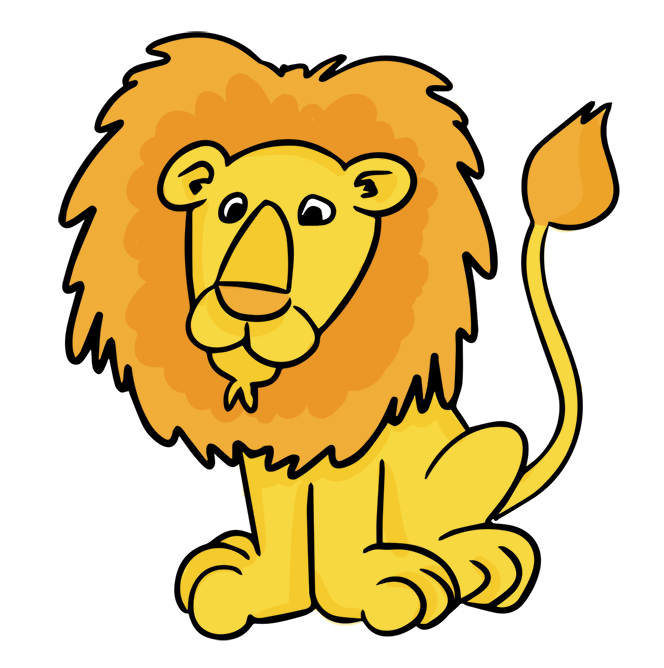 Male . Nest clipart lion