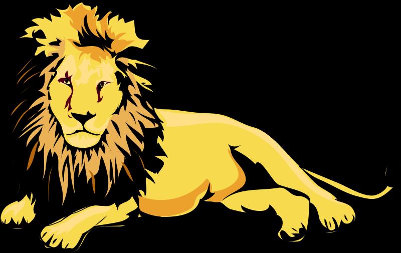 Clip art black and. Clipart lion