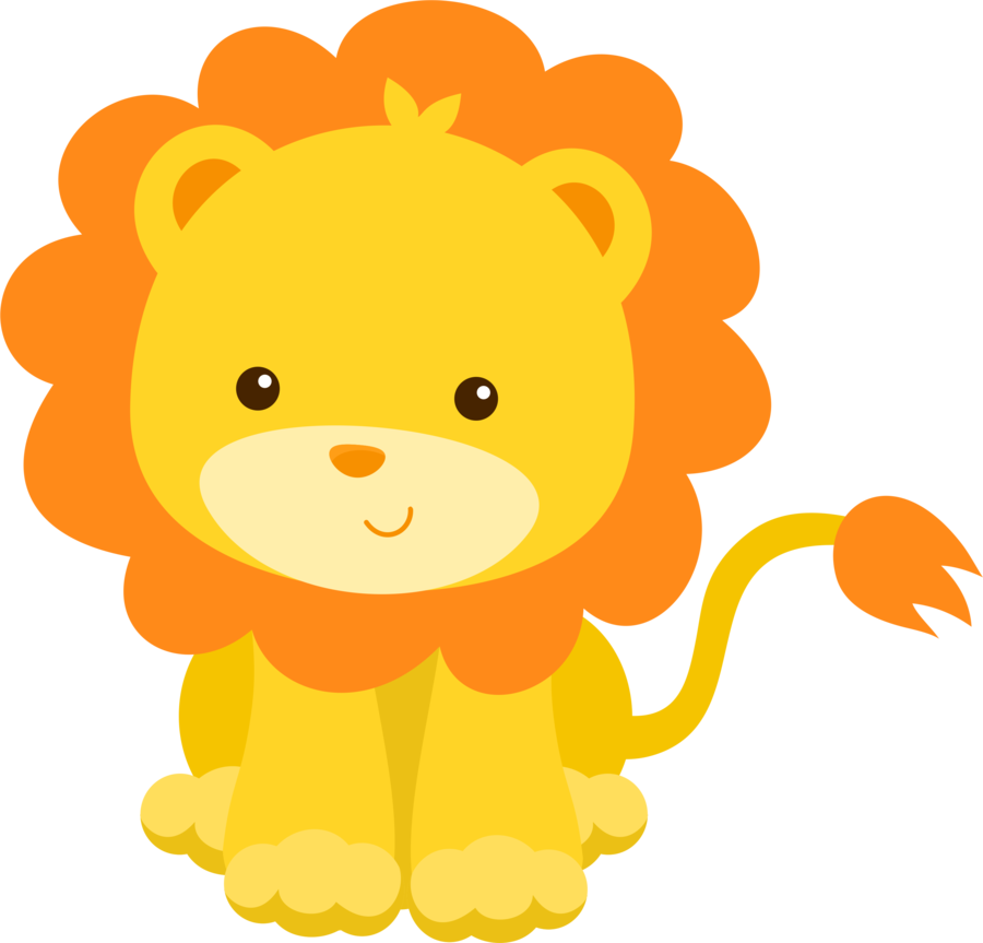 Minus say hello animalitos. Nest clipart lion