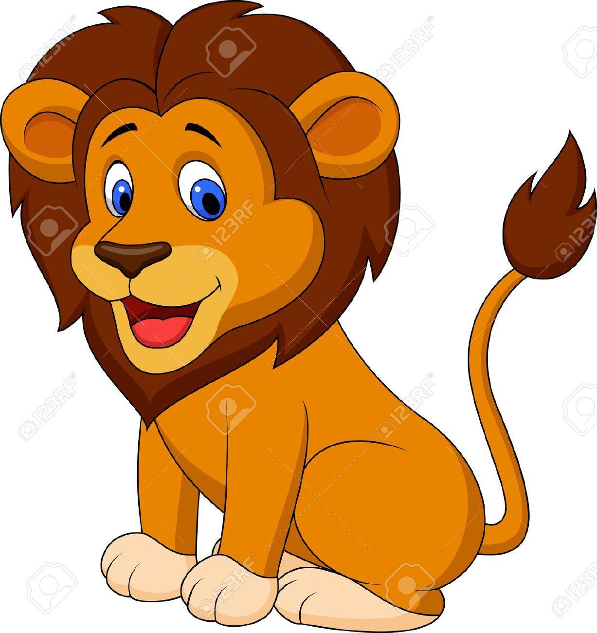Clipart lion. Goofy