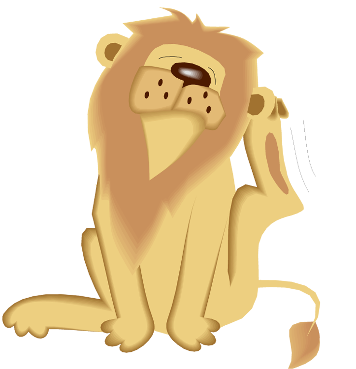 Hippo clipart lion. Free itchy