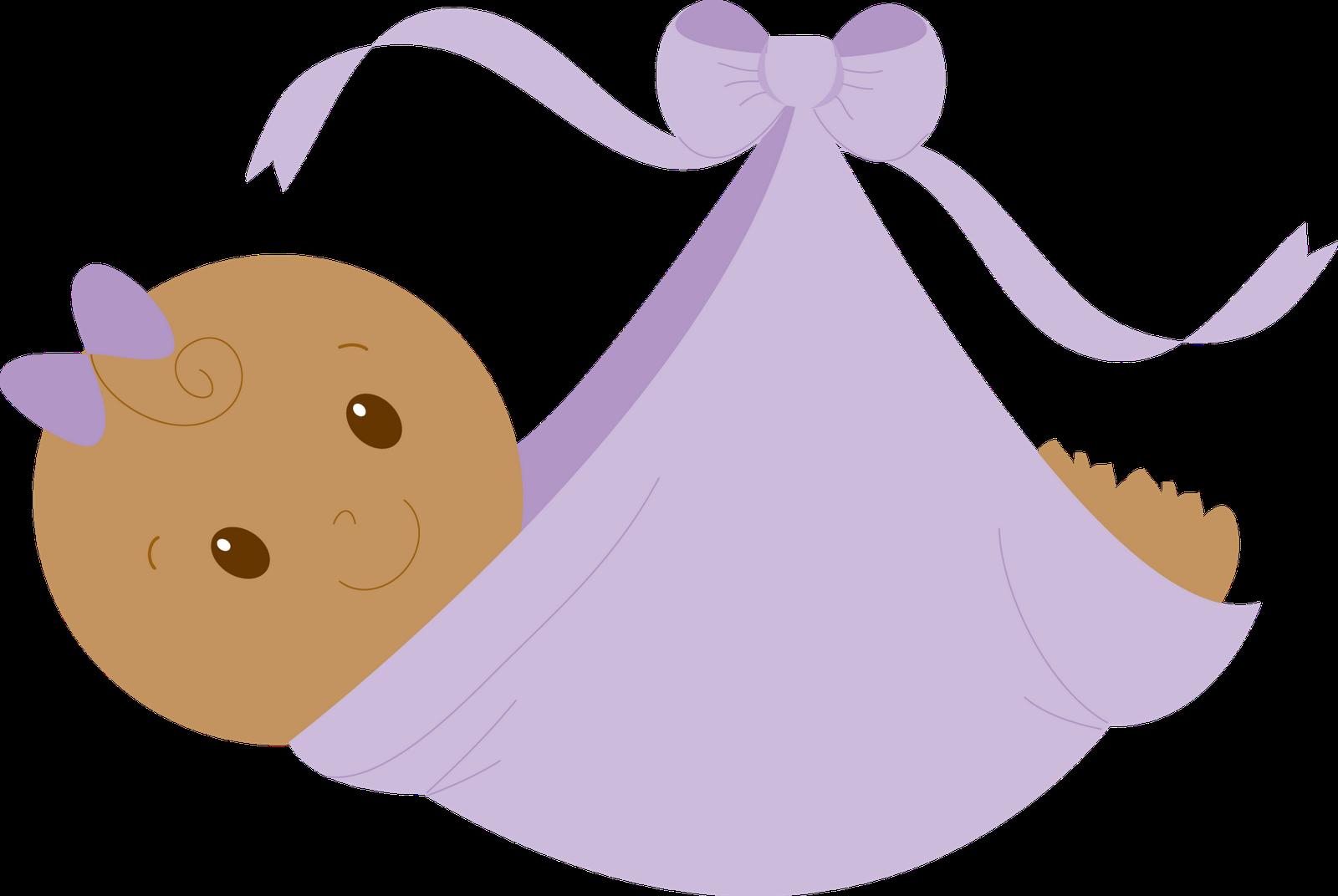 Purple baby girl . Girls clipart kid