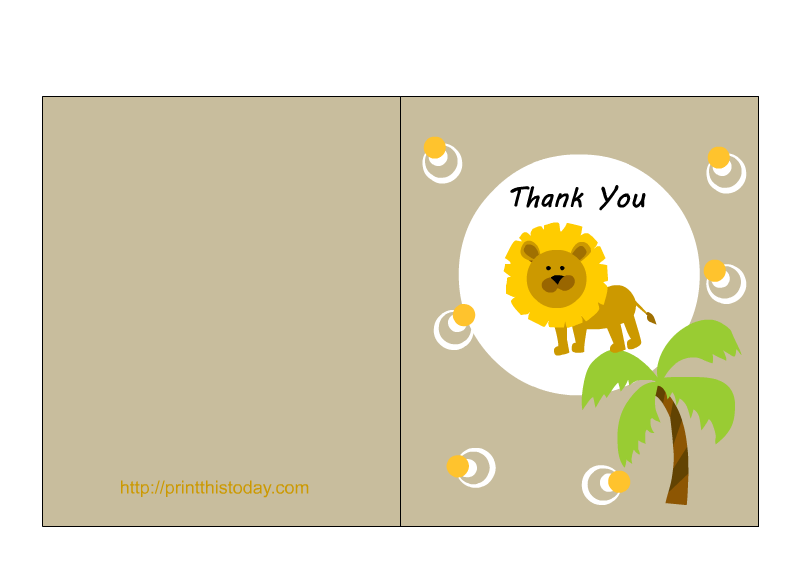 Clipart lion baby shower. Free jungle thank you