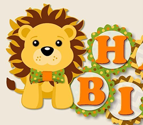 Amazon com personalized with. Clipart lion birthday