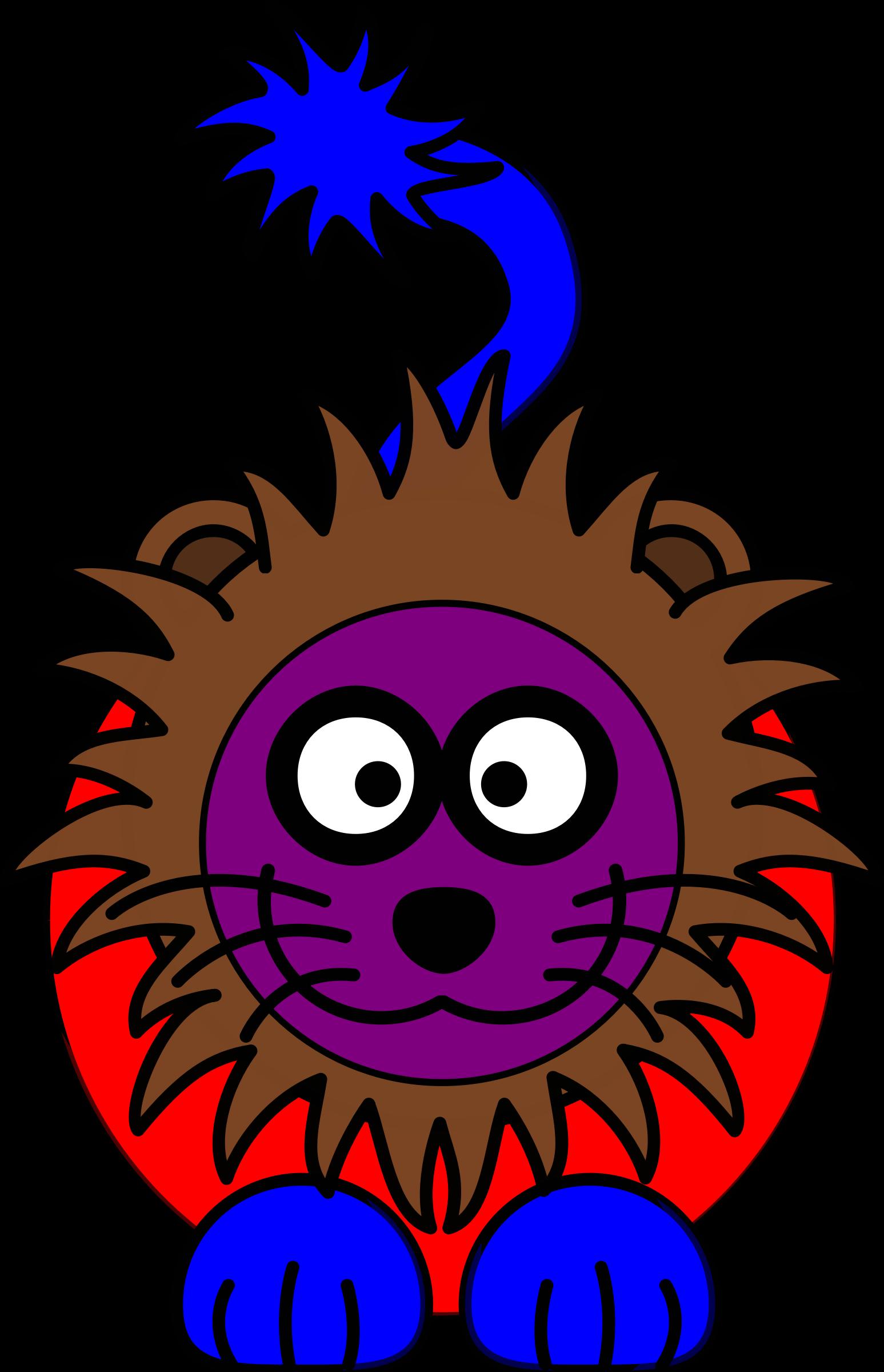 Purple clipart lion. Rainbow big image png