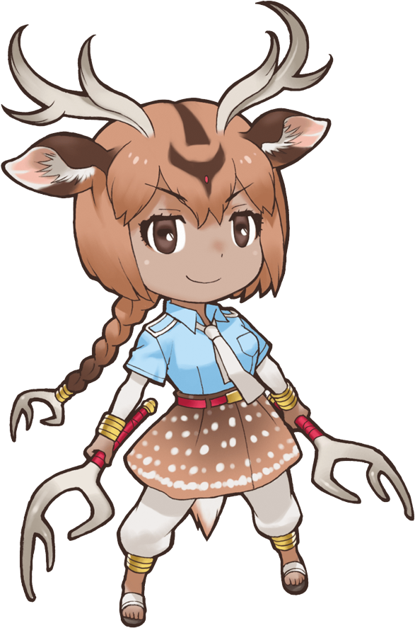 Deer clipart sika deer. Axis japari library the