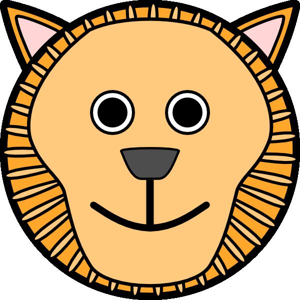 Circle head clip art. Clipart lion ear