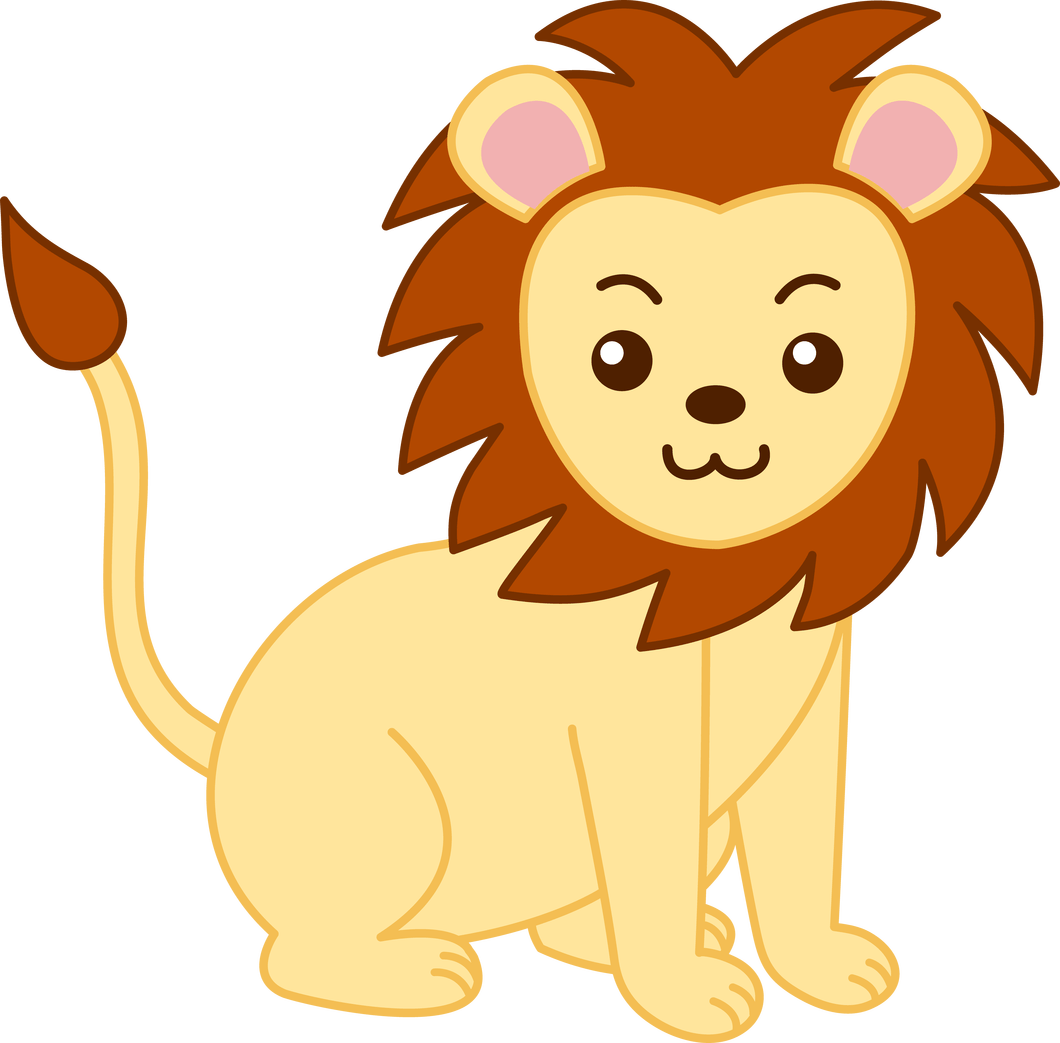 lions clipart baby girl