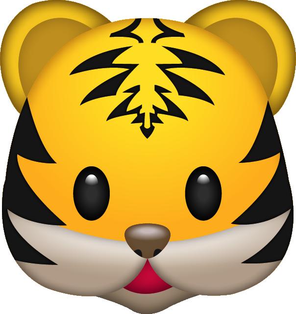 emoji clipart tiger