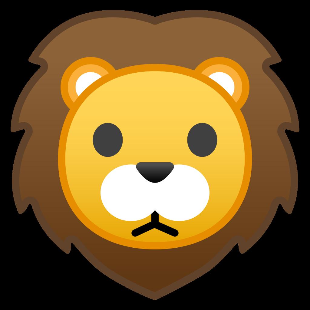 Face icon noto emoji. Clipart rabbit lion
