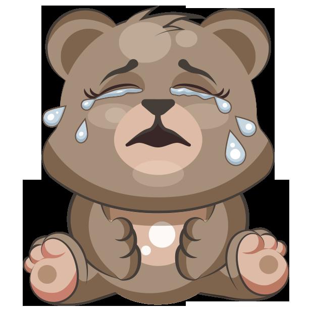 Emoticon sticker clip art. Emoji clipart bear