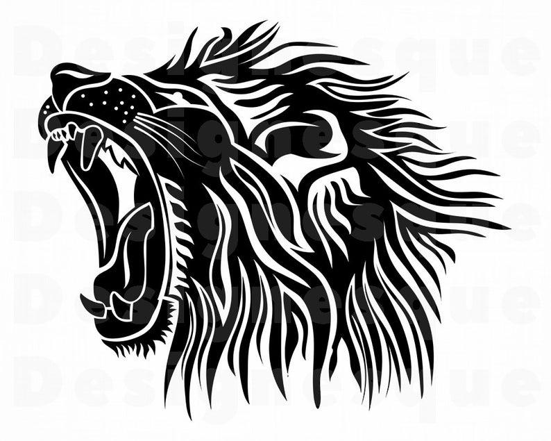 Clipart lion file. Svg files for cricut