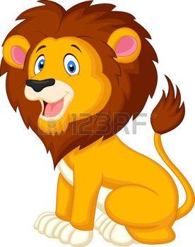 Stock vector los dibujos. Clipart lion flying