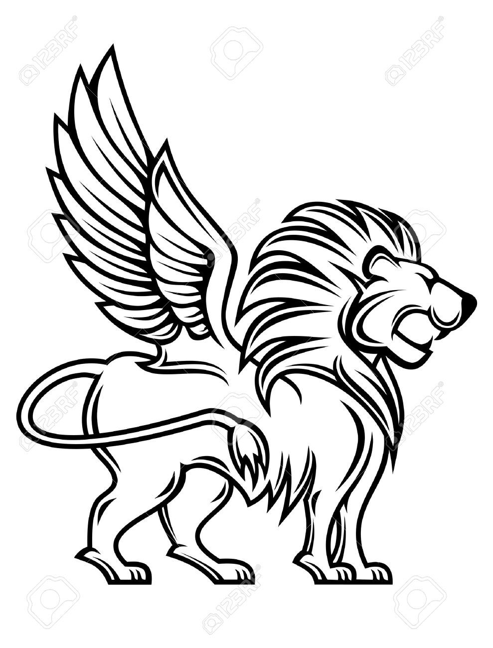 Clipart lion flying. Winged kids art th