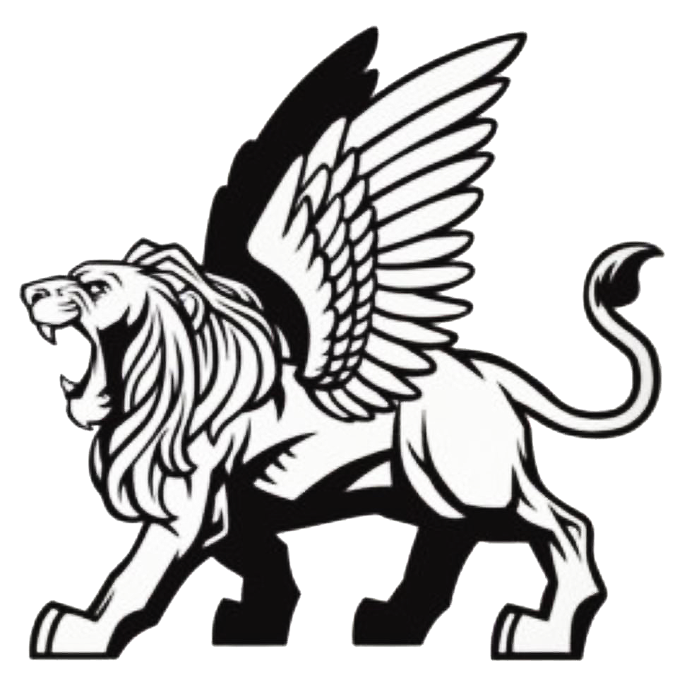lions clipart flying