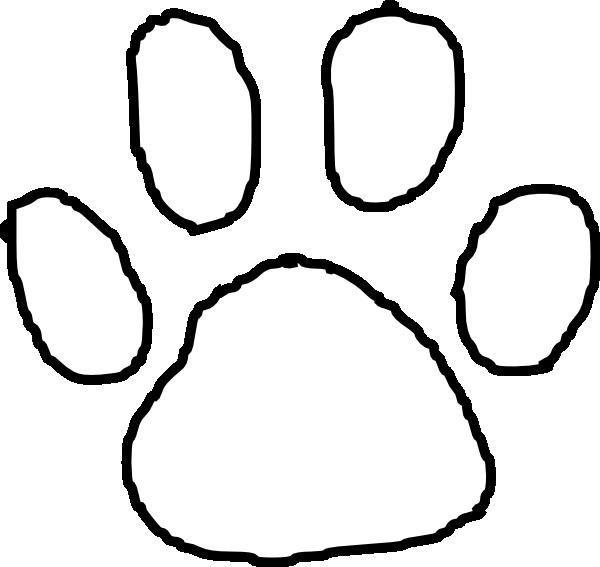 Tiger outline clip art. Wildcat clipart paw print