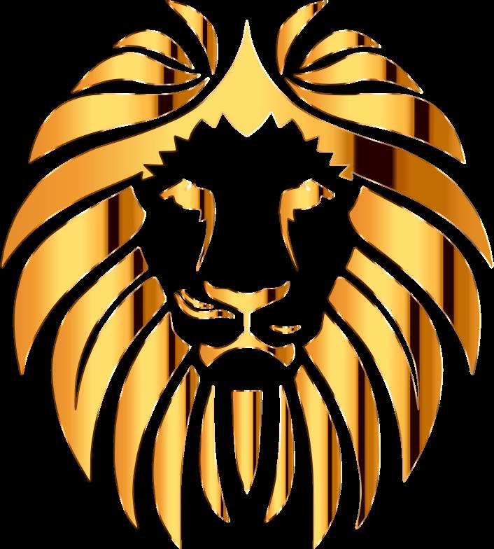 clipart lion golden lion